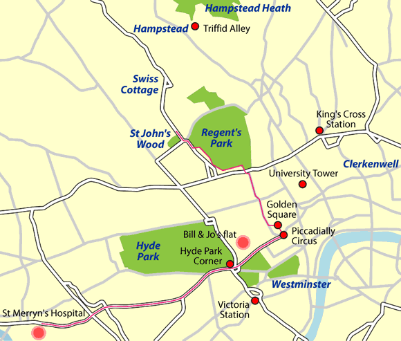 Locations in London